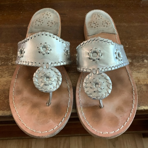 Jack Rogers Shoes   85 Wide Silver